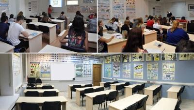 Изучения курса лекций учениками в автошколе