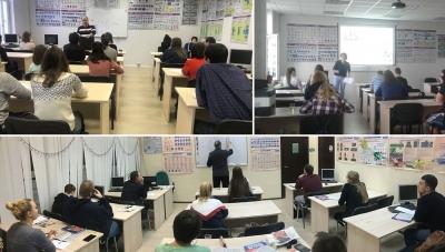 Ученики прослушивают теоретический курс