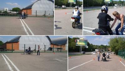 Обучению вождению на мотоцикле с инструктором