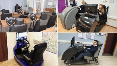 Автотренажеры в классах для поднятия практических навыков учеников