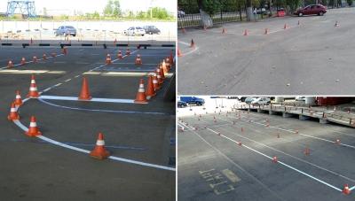Площадки для обучения учеников навыкам вождения