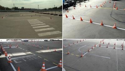 Площадка для обучения вождения учеников